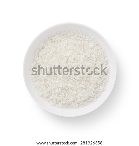 Salt isolated on white background - stock photo