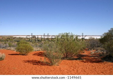 salt lake - stock photo