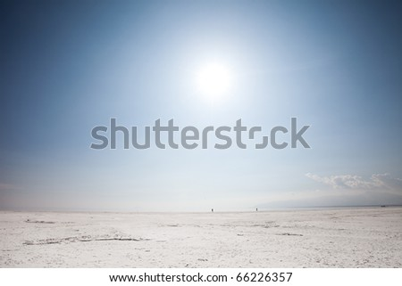 Salt lake - stock photo
