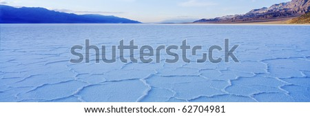 Salt lake in Death Valley - stock photo