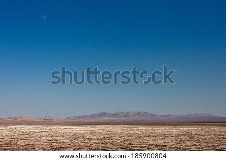 salt lake in mojave desert - stock photo