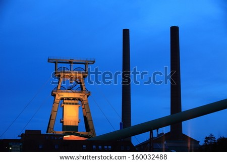 Salt Mineing Conveyor Shaft - stock photo