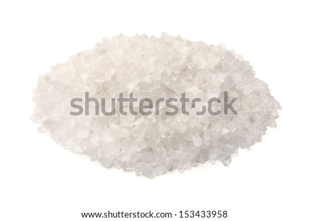 Salt on a white background - stock photo