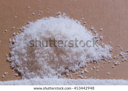 salt on background and selective focus,out focus(window light).
