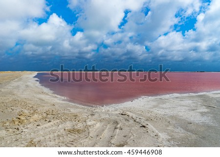 Salt Pans and mining around the Caribbean Island of Bonaire in the ABC Islands