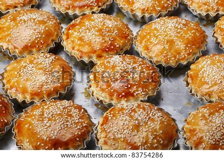 salt pies - stock photo