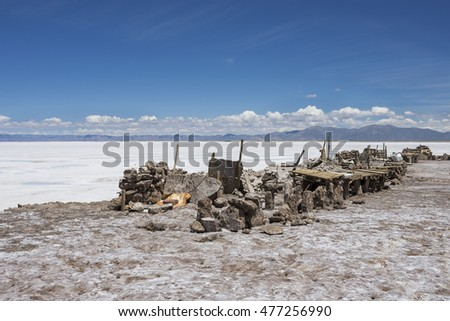 Salt plains in  Argentina