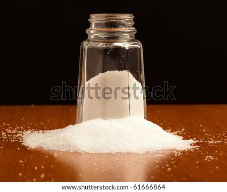 salt shaker - stock photo