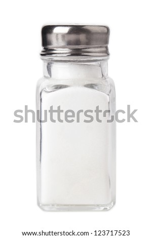 Salt shaker over the white background