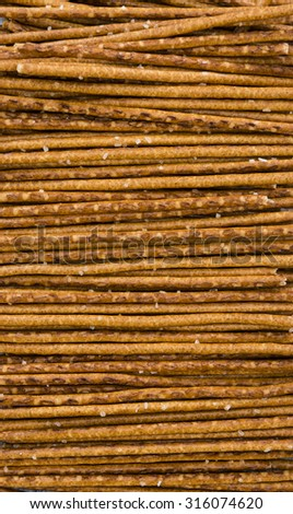 Salt Sticks (close-up shot) for use as food background or as texture - stock photo