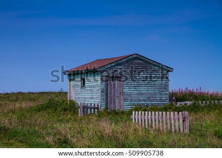 Salt Washed Net Shed Newfoundland