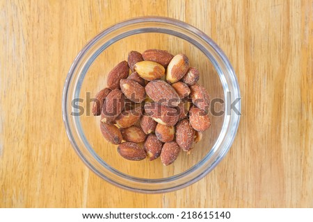 salted and roasted Almonds  - stock photo