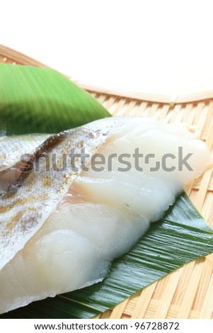 salted cod roe on bamboo basket