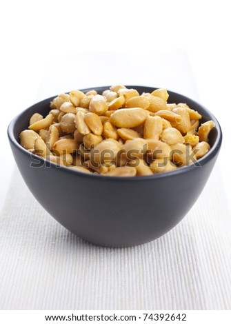 Salted peanuts - stock photo