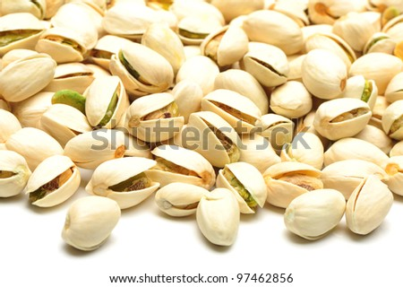 salted pistachio nuts - stock photo