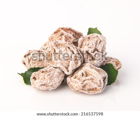 Salted Plum Tamarind Food Snack on Background - stock photo