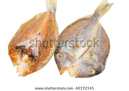 Salted Preserved Fish, Top And Underside View