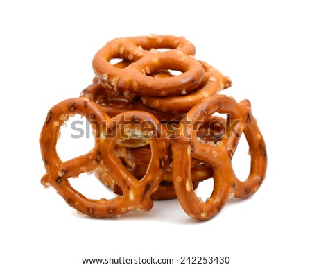 Salted pretzel snacks - stock photo