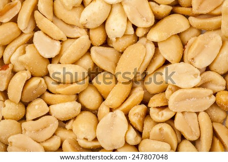 Salted roasted peanuts texture background  - stock photo