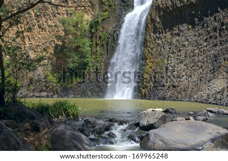 Salto del Nogal waterfall and pool outside Tapalpa Mexico - stock photo