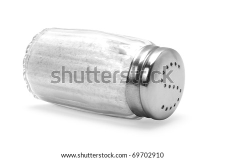 saltshaker on white background - stock photo