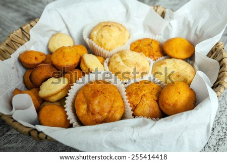Salty muffins - stock photo