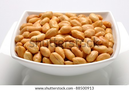 Salty Peanuts 5 - stock photo