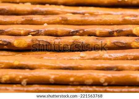 Salty Snack Sticks Close Up - stock photo