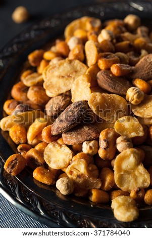 Salty Spanish Cocktail Nuts in a bowl