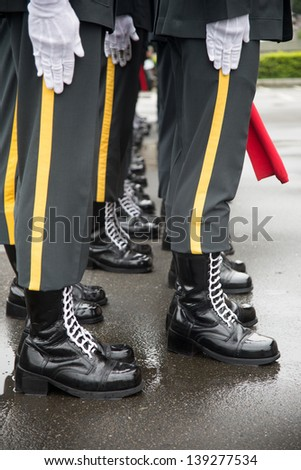 Salute soldiers/army Salute - stock photo