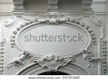 SALZBURG, AUSTRIA - DECEMBER 13: Stucco in the Collegiate church in Salzburg on December 13, 2014.
