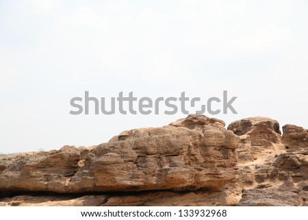 Sam-Pan-Bok Grand Canyon, Amazing of rock in Mekong river ,Ubonratchathani, Thailand. - stock photo