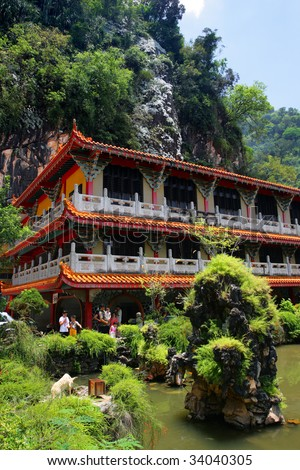 Sam Poh Tong is the most famous and developed cave temple in Malaysia