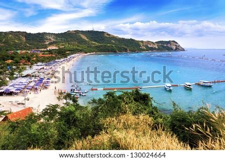 Samae beach on Koh Lan, Thailand - stock photo