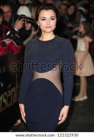 Samantha Barks arriving for the premiere of 'Les Miserables' at Leicester Square, London. 05/12/2012 Picture by: Alexandra Glen - stock photo