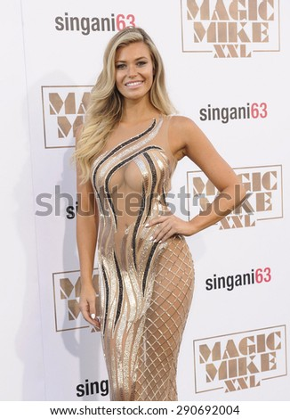 Samantha Hoopes at the World premiere of 'Magic Mike XXL' held at the TCL Chinese Theatre in Hollywood, USA on June 25, 2015.