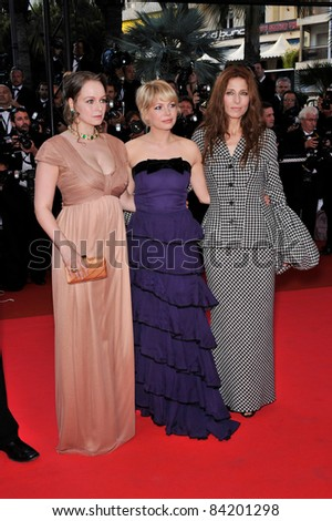 "Samantha Morton, Michelle Williams & Catherine Keener at premiere for ""Synecdoche, New York"" at the 61st Annual Cannes Film Festival.  5-23-08  Cannes, France. By: Paul Smith / Featureflash - stock photo"