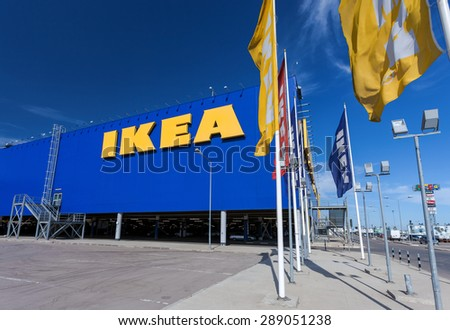 SAMARA, RUSSIA - JUNE 14, 2015: IKEA Samara Store. IKEA is the world's largest furniture retailer and sells ready to assemble furniture. Founded in Sweden in 1943 - stock photo