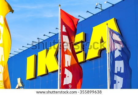 SAMARA, RUSSIA - SEPTEMBER 13, 2015: IKEA Samara Store. IKEA is the world's largest furniture retailer and sells ready to assemble furniture