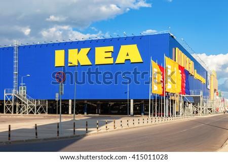 SAMARA, RUSSIA - SEPTEMBER 9, 2013: IKEA Samara Store. IKEA is the world's largest furniture retailer and sells ready to assemble furniture - stock photo