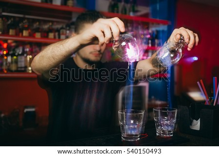 Sambuca cocktail, bartender
