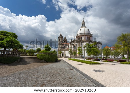 Sameiro Cathedral in Braga, Portugal
