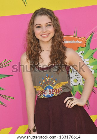 Sammi Hanratty at Nickelodeon's 26th Annual Kids' Choice Awards at the Galen Centre, Los Angeles. March 23, 2013  Los Angeles, CA Picture: Paul Smith