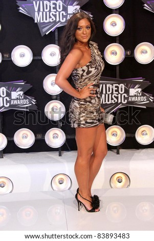 Sammi 'Sweetheart' Giancola at the 2011 MTV Video Music Awards Arrivals, Nokia Theatre LA Live, Los Angeles, CA 08-28-11