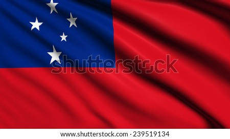 Samoa flag with fabric structure