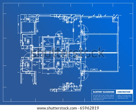 Sample architectural blueprints over blue background stock sample of architectural blueprints over a blue background blueprint malvernweather Choice Image