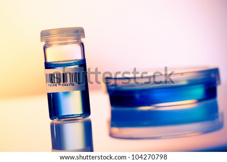 Sample of biological cultures in the microbiology laboratory - stock photo