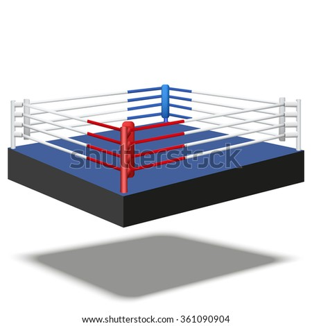 Sample of boxing prize ring a simple design.  Illustration isolated on white background.