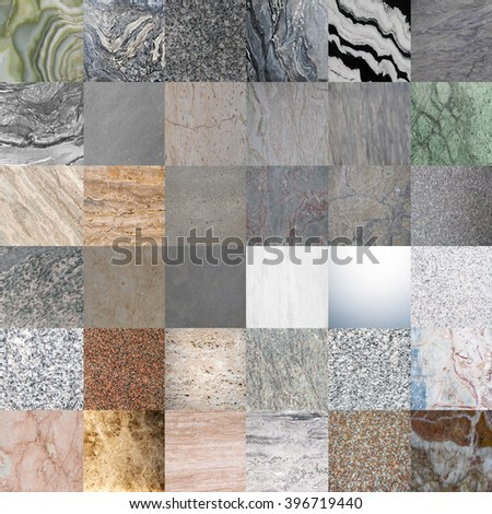 sample of marble texture - granite layers design gray stone slab surface grain rock backdrop layout industry construction - stock photo