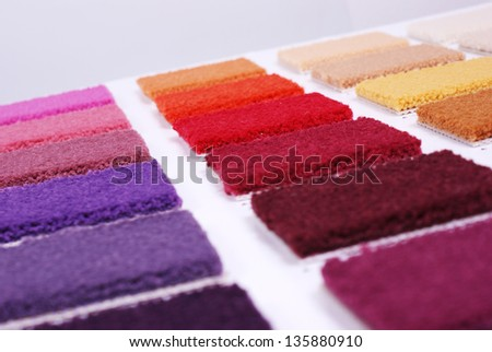 samples of carpet - stock photo